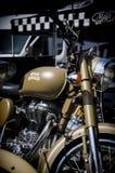 Royal enfield motorbike. Peasro 2016 sunride Vintage Royal enfield motorbike Royalty Free Stock Images