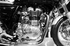 Royal Enfield motorcycle. Close-up engine of Royal Enfield motorcycle Royalty Free Stock Photo