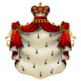 Royal ermine mantle Royalty Free Stock Photography