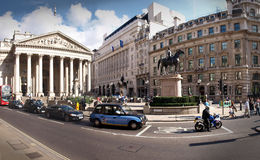 Royal Exchange. And Threadneedle Street London royalty free stock images