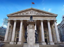 Royal Exchange. And Threadneedle Street London Royalty Free Stock Photos