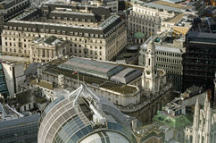 Royal Exchange aerial view, London Stock Images