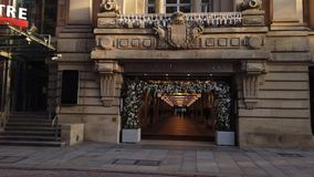 Royal Exchange Arcade in Manchester - MANCHESTER, ENGLAND - JANUARY 1, 2019. Royal Exchange Arcade in Manchester - MANCHESTER, UNITED KINGDOM - JANUARY 1, 2019 stock video footage