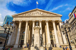 Royal Exchange at the Bank junction in London, UK Stock Photo