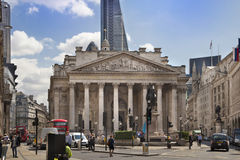 Royal exchange building, Bank of England square Stock Photography