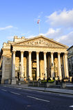 Royal Exchange building in London. Front view of Royal Exchange building in London stock images