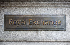 Royal Exchange in London Royalty Free Stock Photos