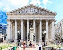Royal Exchange in London, UK Royalty Free Stock Photos