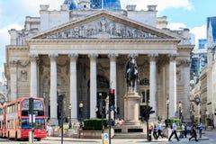 Royal Exchange in London, UK Royalty Free Stock Photo