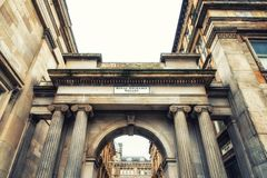 Royal Exchange Square, Glasgow, UK. Architectual details in the city centre, Royal Exchange Square, Glasgow, UK Royalty Free Stock Images