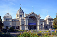 Royal Exhibition Building and Carlton Gardens a World heritage S Royalty Free Stock Photo