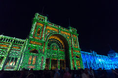 Royal Exhibition Buildings during White Night Stock Images