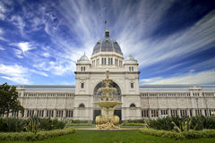 Royal Exhibition Hall. With dramatic skies Stock Photography