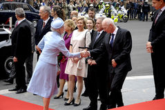 ROYAL FAMILY ARRIVES AT DANISH PARLIAMENT OPENING Stock Image