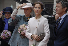 ROYAL FAMILY ARRIVES AT DANISH PARLIAMENT OPENING Royalty Free Stock Photo