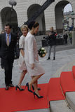 ROYAL FAMILY ARRIVES AT DANISH PARLIAMENT OPENING Royalty Free Stock Image