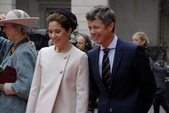 ROYAL FAMILY ARRIVES AT DANISH PARLIAMENT OPENING Royalty Free Stock Photography