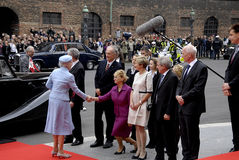 ROYAL FAMILY ARRIVES AT DANISH PARLIAMENT OPENING Stock Photography