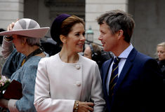 ROYAL FAMILY ARRIVES AT DANISH PARLIAMENT OPENING Royalty Free Stock Images