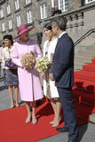 ROYAL FAMILY GREETS BY PRIME MINISTER OF DENMARK Stock Photos