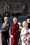 ROYAL FAMILY GREETS BY PRIME MINISTER OF DENMARK Stock Image