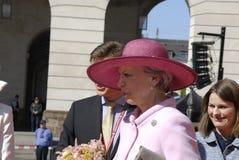 ROYAL FAMILY GREETS BY PRIME MINISTER OF DENMARK. COPENAHGEN /DENAMRK 05 June  2015_   Denmark celebration 100 years women voting rights constitution day her Royalty Free Stock Photo