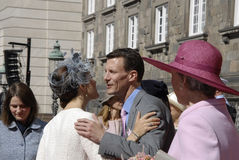 ROYAL FAMILY GREETS BY PRIME MINISTER OF DENMARK Stock Photo