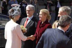 ROYAL FAMILY GREETS BY PRIME MINISTER OF DENMARK. COPENAHGEN /DENAMRK 05 June  2015_   Denmark celebration 100 years women voting rights constitution day her Stock Photography