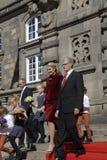 ROYAL FAMILY GREETS BY PRIME MINISTER OF DENMARK. COPENAHGEN /DENAMRK 05 June  2015_   Denmark celebration 100 years women voting rights constitution day her Stock Images