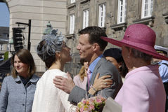 ROYAL FAMILY GREETS BY PRIME MINISTER OF DENMARK. COPENAHGEN /DENAMRK 05 June  2015_   Denmark celebration 100 years women voting rights constitution day her Stock Image