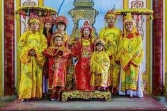 Royal family. King Palace in Vietnam, Hue Royalty Free Stock Photos