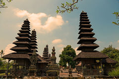Royal Family Temple of Mengwi Pura Taman Ayun in Bali, Indonesia. Dating from 1634, this picturesque temple complex is surrounded by a moat, with multi roofed Royalty Free Stock Images