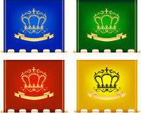 Royal flags Stock Image