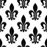 Royal fleur-de-lis floral seamless pattern Stock Image