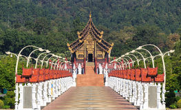 Royal Flora Hor Kham Luang in Chiang Mai, Thailand Royalty Free Stock Photo