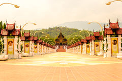 Royal flora park. In Chiang Mai ,Thailand stock photo