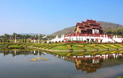 ROYAL FLORA RATCHAPHRUEK, International Horticulture Exposition for His Majesty the King. Chiang mai Thailand stock image