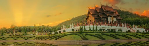 Royal Flora Ratchaphruek Park, Chiang Mai, Thailand. Royal Flora Ratchaphruek Park, Royal Pavilion, landmark of Chiang Mai, Thailand stock photos