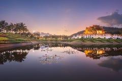 Royal Flora Ratchaphruek Park at sunset Chiang Mai royalty free stock photos