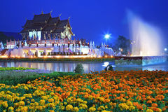Royal Flora temple (ratchaphreuk) Chiang Mai,Tha Royalty Free Stock Image