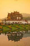 Royal Flora temple (ratchaphreuk)in Chiang Mai,Thailand Stock Photo