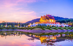 Royal Flora temple (ratchaphreuk)in Chiang Mai,Thailand Stock Photography
