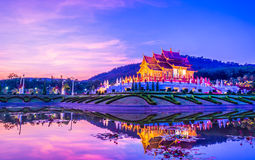 Royal Flora temple (ratchaphreuk)in Chiang Mai,Thailand Stock Image