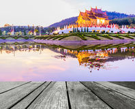 Royal Flora temple (ratchaphreuk)in Chiang Mai,Thailand Royalty Free Stock Images