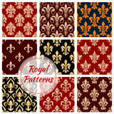 Royal floral decoration pattern backgrounds Stock Image