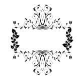 Royal floral frame Stock Photos