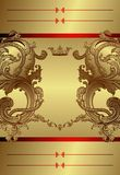 Royal Floral Frame Background Stock Image