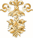 Royal floral golden ornament Royalty Free Stock Image