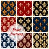 Royal flower patterns set, vector floral ornament Stock Image