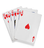 Royal Flush. Hand with clipping path Stock Photography